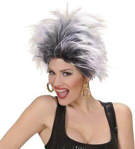 Ladies-White-Black-Punk-Rocker-Wig-Diva-80s-90sGlam-Rock-Chick-Urban-Tina-Fancy