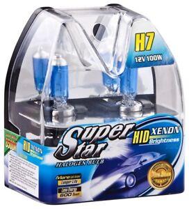 H7 Birnen Xenon Optik Halogen Lampen 8500K Super Weiss 12 V 100 Watt SuperStar