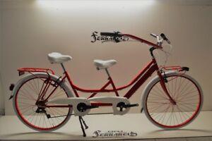 Dettagli Su Tandem 28 Rosso Riscio Bici Biposto Bicicletta Personalizzabile