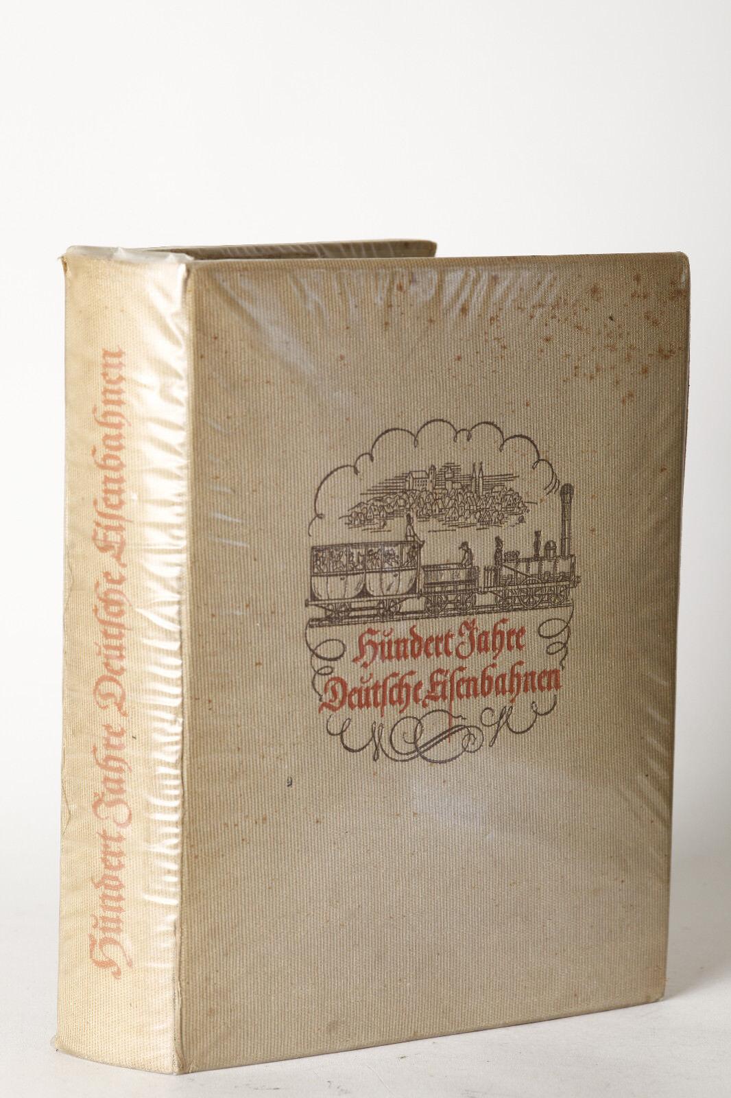 Eisenbahnbuch: CENTO ANNI Deutsche Ferrovie, Jubiläumsschrift 1938  78114