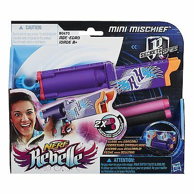 Nerf Rebelle Secrets & Spies Mini Mischief Blaster,  NEW in Box!