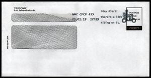 2019-Stay-Alert-Slogan-Postmark-on-Plain-Commercial-Cover-Stamps-Australia