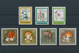 LO10485 Albania plants flora nature mushrooms fine lot MNH