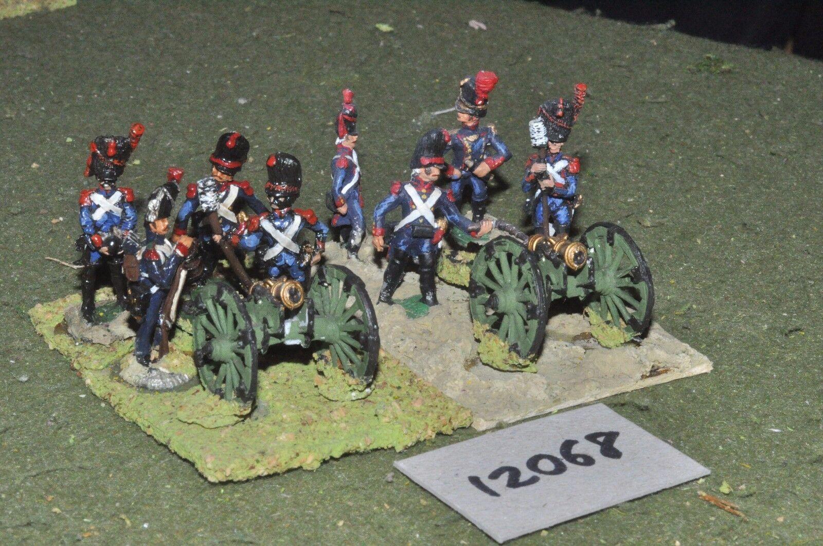 25mm napoleonic   french - artillery 2 guns crews - art (12068)