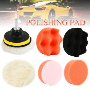 3-Inch-Gross-Polish-Polishing-Buffer-Pad-Kit-amp-Drill-Adapter-For-Car-Polisher