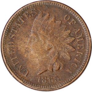 "1865 1C Indian Head Cent Penny ""Fancy 5"" w/ LIBERTY Civil War Era Coin"