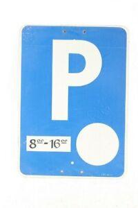 Old Shield Aluminium Parking Spot Shield Blue Parkzeiten 8 To 16 Watch
