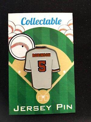 Baltimore Orioles Brooks Robinson Trikot Revers Pin #1 Klassisches O's Weitere Ballsportarten
