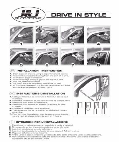 SET 4 DEFLETTORI ARIA  ANTITURBO per Mercedes Class R W251 5 porte 2006-ad oggi