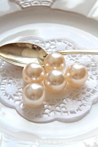 5 Grandi Perline Rotonde 24mm crema matrimonio Cera Perle dekoperlen 0,35 €//St