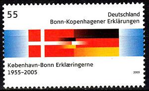 2449 post frescos BRD federal PROMOClÓN de 2005 minorías Dinamarca bandera bandera