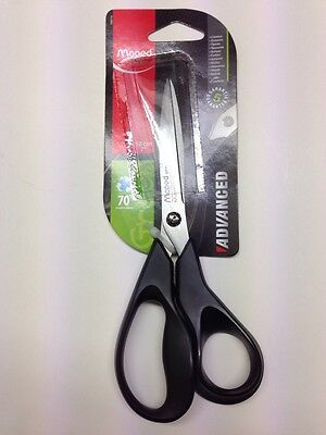 NEW 3 X Maped Small Enviro Scissors 17cm Black W// Ergonomic Handle 5yr Guarantee