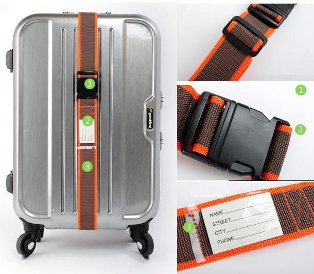NEWTravel Strap Belt Secure Durable for Travel Suitcase Baggag Luggage ORANGE