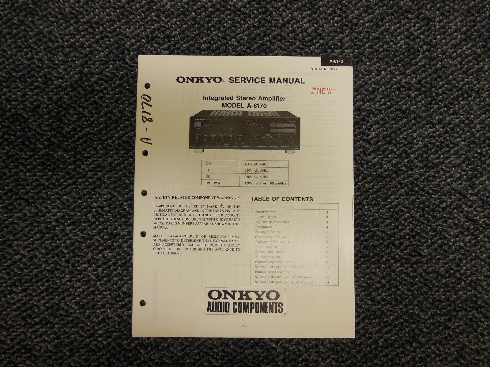 Onkyo Integra Integrated Stereo Amplifier A 8170 For Parts Repair Ebay Radio Circuit Diagram With List Norton Secured Powered By Verisign