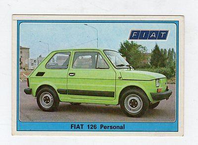 figurina SUPER AUTO PANINI NEW NUMERO 117  FIAT 126 PERSONAL