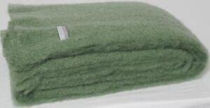Masterweave Windermere Mohair Throw Rug Blanket Olive