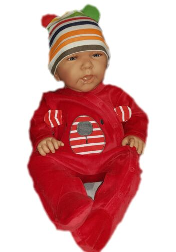 Nouveau bébé unisexe velours Nicki Body Combishort Pyjama Taille 56 62 68 cm