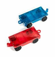 Mag Builders 2 Piece Car Set - Magnetic Truck Car Train - M... Free Shipping