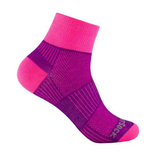 Wrightsock Coolmesh II quarter doppellagige Socken pink