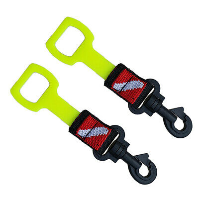 2Pcs Scuba Diving Dive Octopus Octo 2nd Stage Regulator Holder Straps Yellow