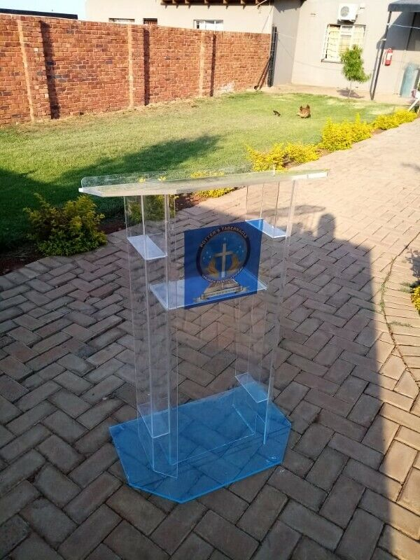 High End Clear Perspex Church Pulpit