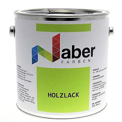 (11,20 €/l) 2,5 Liter Holzlack, Ral 9001 Cremeweiss, Matt
