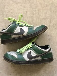 pretty nice 27e1a e9740 Image is loading Nike-Dunk-Low-Pro-SB-Jedi-Brown-Green-
