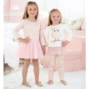 8e8abedb773a Mud Pie Girls Leopard Print Tutu Dress Pink Spotted Owl Collection ...