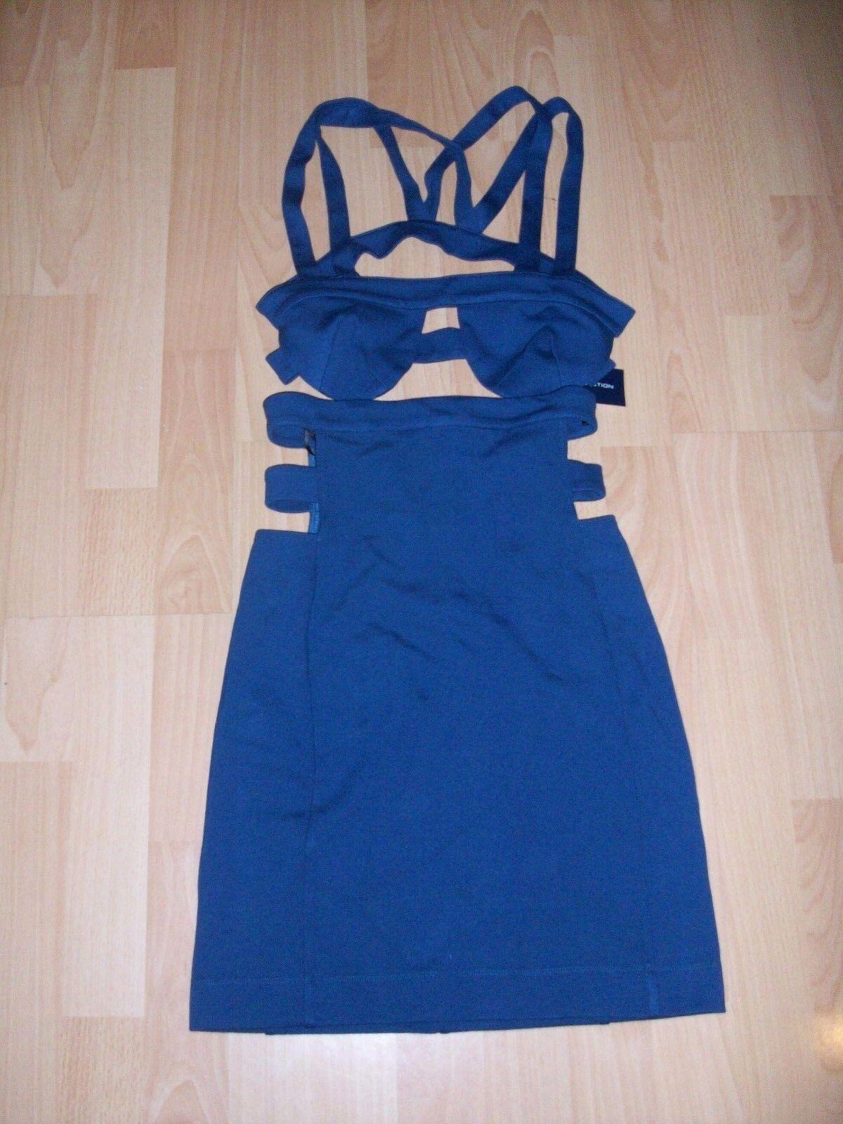 BNWT FCUK French Connection @ ASOS bluee Lula Bodycon Cutout Sexy Party Dress
