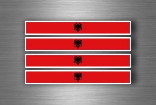 4x sticker decal car stripe motorcycle racing flag bike moto tuning albania