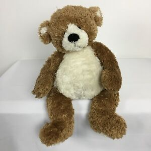 Gund-Brown-and-Cream-Fleming-Teddy-Bear-Height-laying-down-approx-14-inch