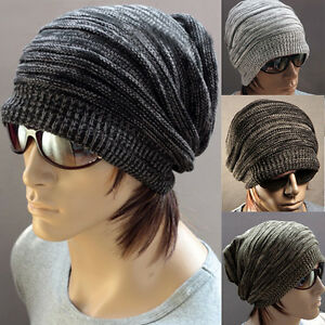 Image is loading Men-Cap-Beanie-Stripe-Skullcap-Hippie-Hat-Knit- 44f0ddd0233