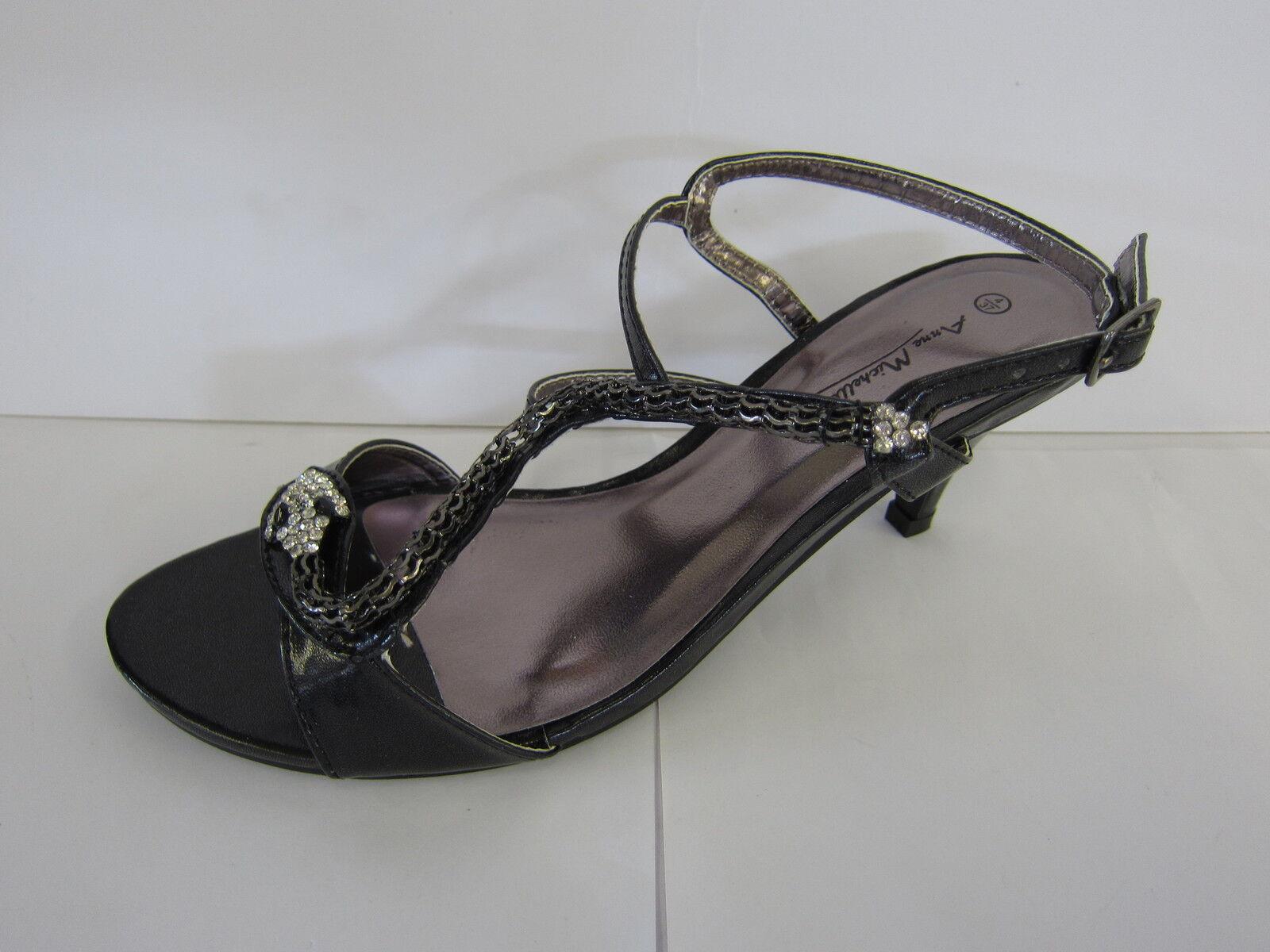 damen-anne Michelle Schlangendesign schwarz zehenfrei Sandale mit Schlangendesign Michelle L3414 9f063b