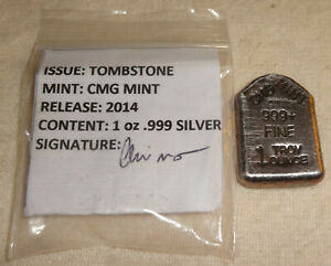 2014-Halloween-RIP-Tombstone-Antiqued-999-Fine-Silver-Bar-CMG-Mint-MINTAGE-15