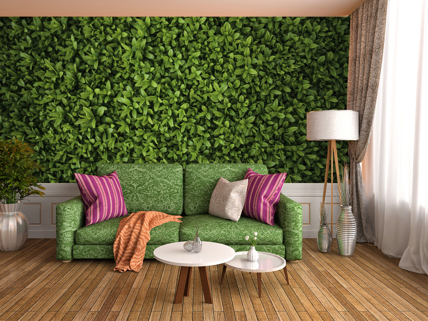3D green Green leaves Grass Wall Paper Print Decal Wall Deco Indoor wall Mural