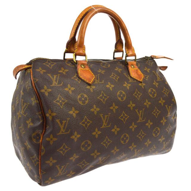 LOUIS VUITTON SPEEDY 30 HAND BAG PURSE MONOGRAM CANVAS M41526 844MB M14694
