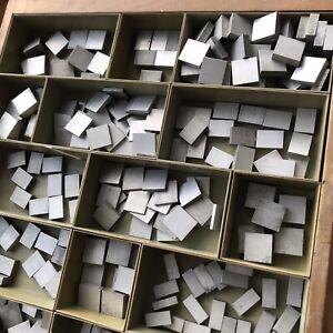 ALU-Blindmaterial-Ausschluss-Quadraten-Handsatz-Letterpress-Bleisatz-Buchdruck