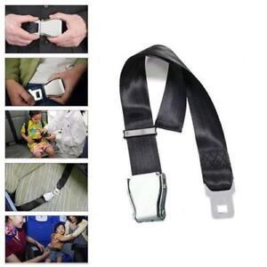 1Pcs Universal Airplane Extender Seat Belt Commercial Plane Extension Buckle Black