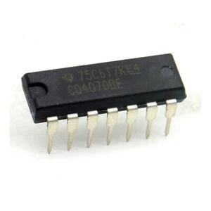 Circuit Int/égr/é CD4070BE Quad Exclusive-OR gate DIP-14 Texas 214ic096