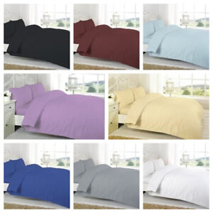 """Luxury Percale Plain Dyed Bed Linen Double Fitted Flat Sheet Red White 54/""""x76/"""""""