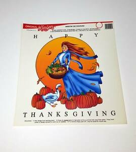 Lot-of-15-Pieces-Large-Happy-Thanksgiving-Reusable-Window-Clings
