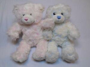 Build-a-Bear-Pink-Girl-Blue-Boy-Set-Pair-LOT-Buddies-Friend-Stuffed-Plush-Animal