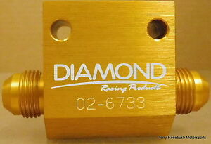 Diamond-Racing-02-6733-Dry-Sump-Manifold-Fitting-8AN-Male-1-1-2-034-NPT-Female
