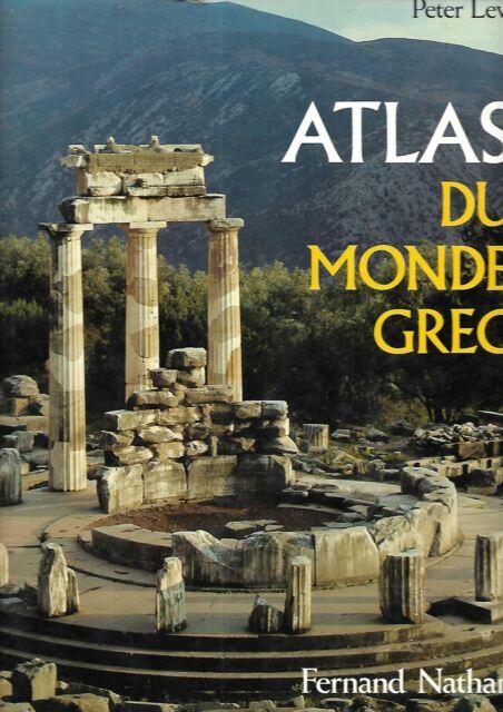 Atlas du monde grec Peter Levi Fernand Nathan très belle dédicace REF E6H