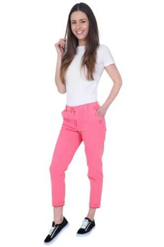 Ex M/&S Womens Ladies  Turn-Up Cotton Chino Trouser Pants Marks Spencer RRp£29.50