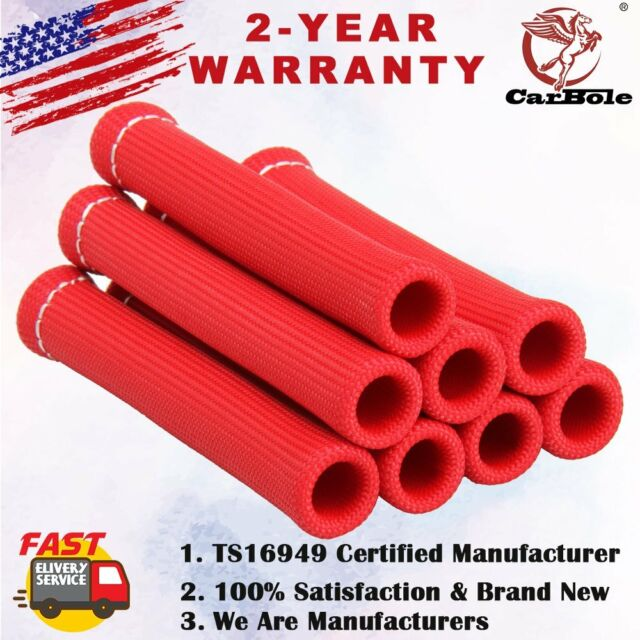 Red 1200° Spark Plug Wire Boots Heat Shield Protector Sleeve Sbc BBC 350 454 new