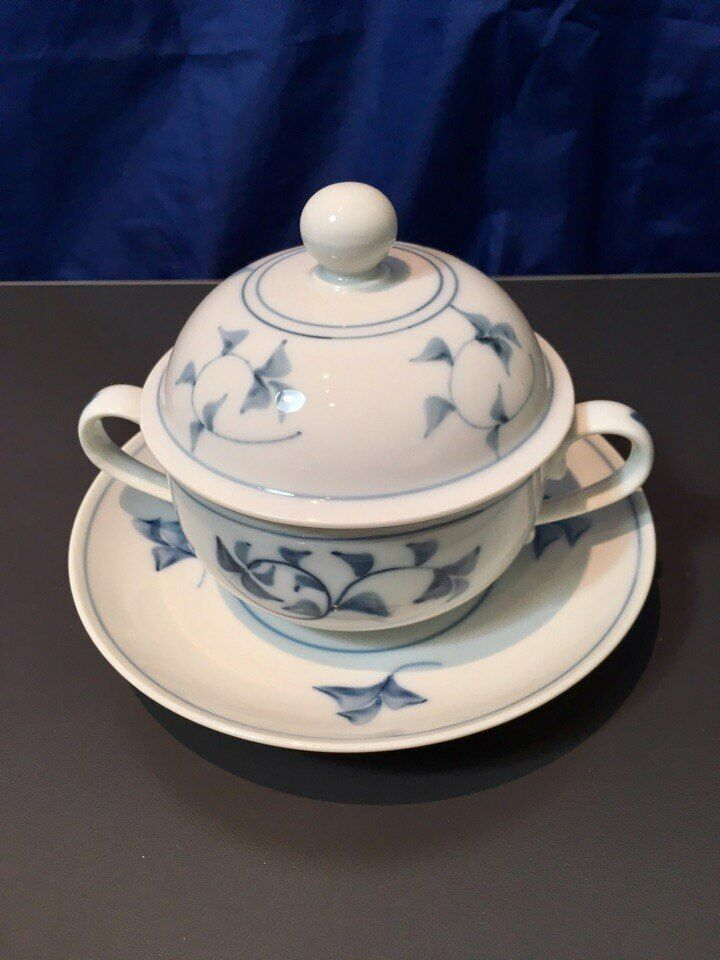 Royal Copenhagen Noblesse 6 Broth Cups Cups Cups with Lid & Saucer - Bouillon Tasse - NEW 40907c