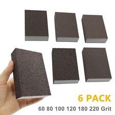6pcs Drywall Foam Sanding Sponge Blocks Set Wet Dry Sand Paper Lot 60 220 Grit