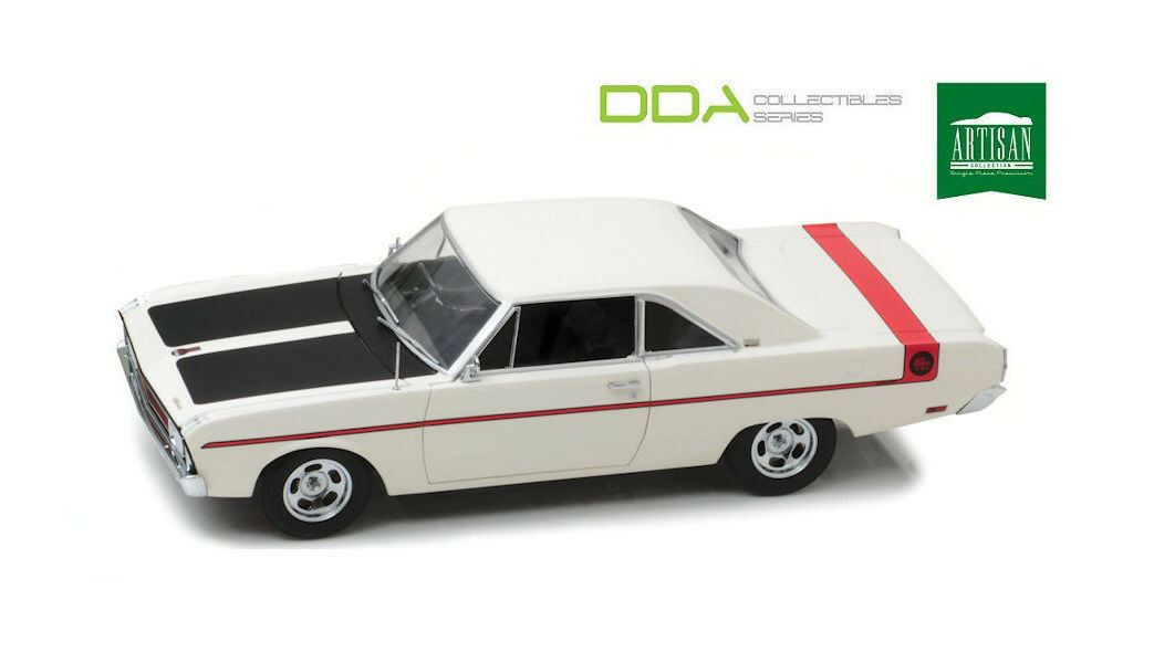 1 18 DDA - 1970 Chrysler VG Valiant - Bondi Beach blanc