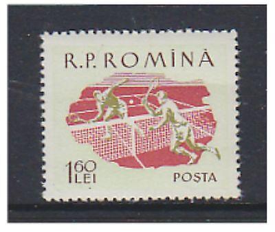 Romania - 1959, 1l60 Tennis stamp - MNH - SG 2678